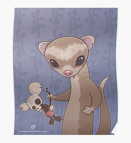 Fizzy The Ferret Poster