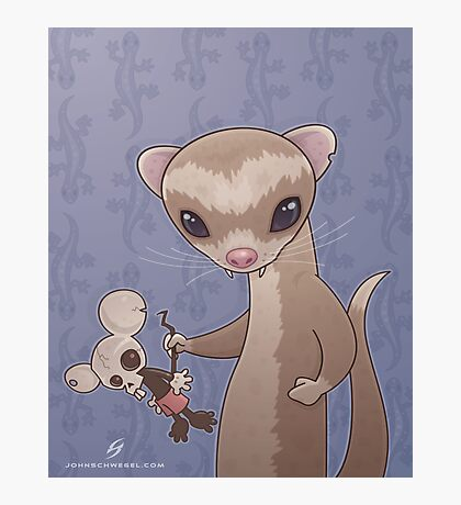 Fizzy The Ferret Photographic Print