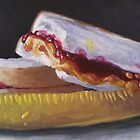 Peanut Butter and Jelly Sandwich with a Pickle  by Pamela Burger