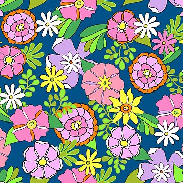Mod 1960s Flower Power Garden by vinpauld