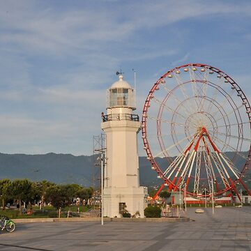 Ferris wheel in the Park of Miracles on the embankment. Batumi, Georgia  by PhotoStock-Isra