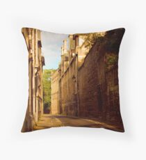 Sidling down sidestreets Throw Pillow
