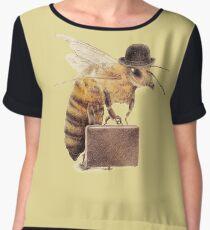 Worker Bee Chiffon Top