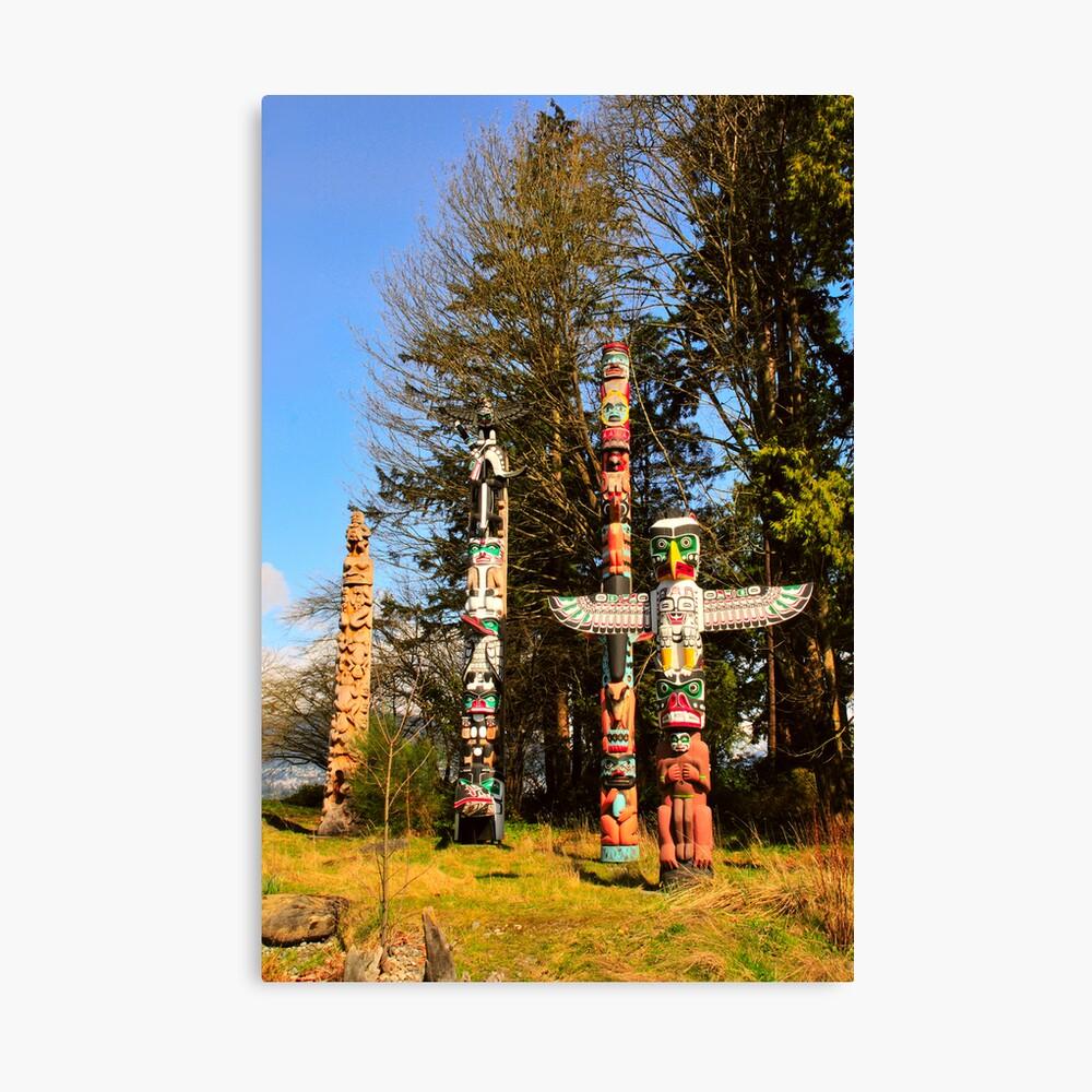 Totem Poles Canvas Print