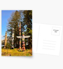 Totem Poles Postcards
