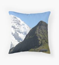 The Mönch and the Lauberhorn Throw Pillow