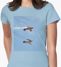 2018 Mudgee Airshow,Australia-Pitts Mirror Formation Women's Fitted T-Shirt