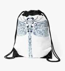 The dragonfly Drawstring Bag