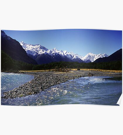 Eglinton River, Fiordland National Park, New Zealand Poster