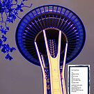 Space Needle - Blue - Soul Superfluous - Poem by Kenneth S Lapham