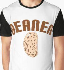 Big Bean Beaner - Beaner Logo with Bean  Graphic T-Shirt