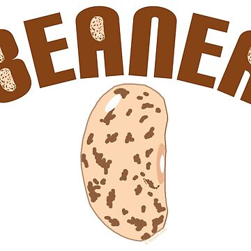 Big Bean Beaner - Beaner Logo with Bean  by xulyer