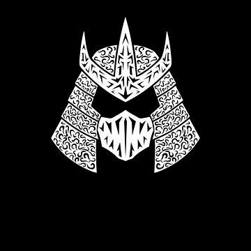 Shred Head (white) by RedTideCreative