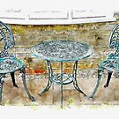 Outdoor Dining by Ruth Moratz