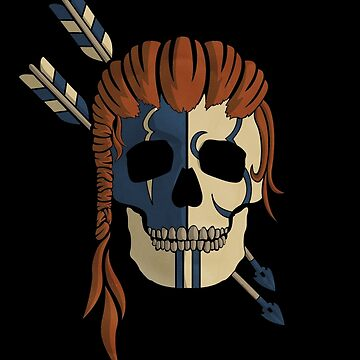 Old Bones- Woad (colour) by RedTideCreative