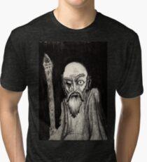 annað augað gamall maður-one eyed old man Tri-blend T-Shirt