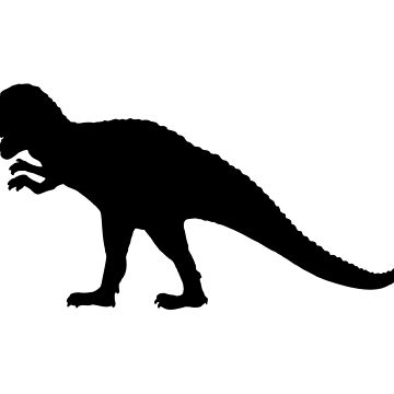Dinosaur black isolated by igorsin