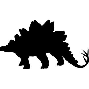 Dinosaur black contour by igorsin