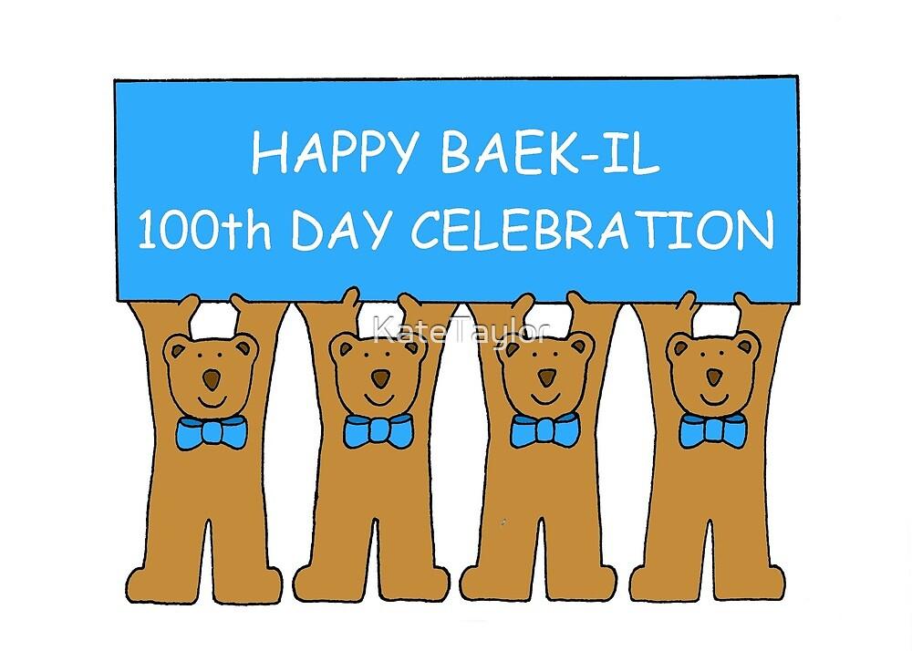Happy Baek-il 100th Day Celebration for Baby Boy. by KateTaylor
