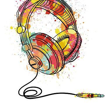 Headphones - EDM - Electronic Dance Music - Rave Club  by BullQuacky