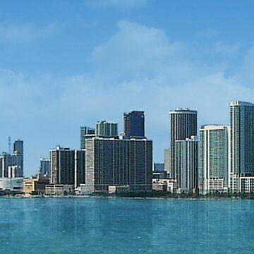 Miami Skyline by aura2000