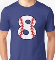 Number 8 Baseball #8 Unisex T-Shirt