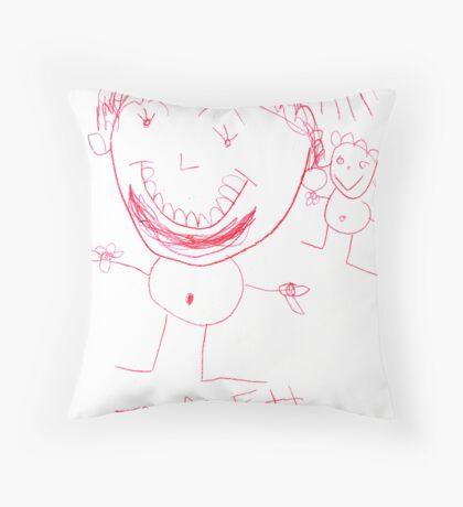Man with a Beard Throw Pillow