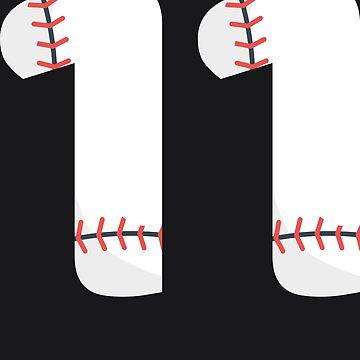 Number 11 Baseball #11 by melsens