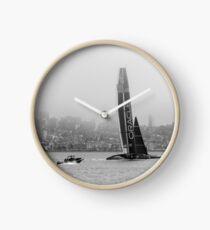 Oracle Team USA in San Francisco Bay Clock