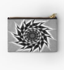 Gray Kaleidoscope Art 23 Studio Pouch