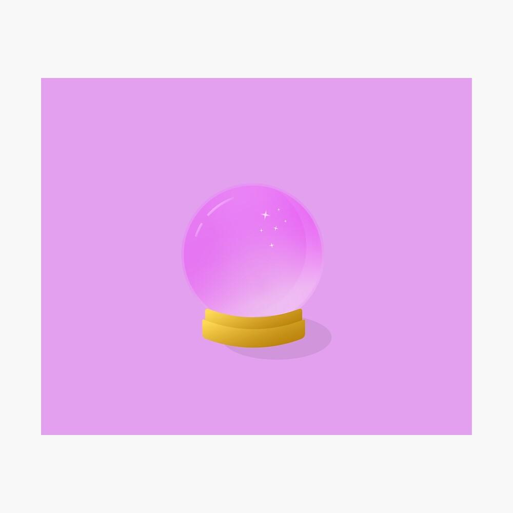 Bola de cristal Lámina fotográfica