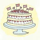 Birthday Layer Cake | Fødselsdag Lagkage by Gina Lorubbio