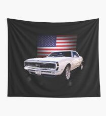 American Muscle 68 Camaro Wall Tapestry
