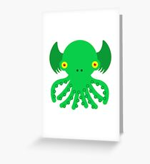 Cute Cthulhu Greeting Card
