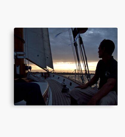 """""""I'm On A Boat! ...A Sailboat"""" - Newport Harbor Series - © 2009 Canvas Print"""