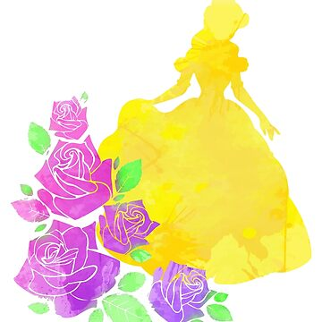Floral Princess Inspired Silhouette by InspiredShadows