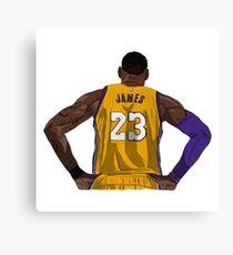LA LeBron James Canvas Print