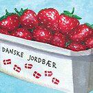 Danish Strawberries | Dansk Jordbær by Gina Lorubbio