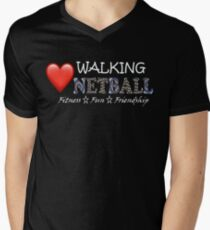 Love Walking Netball - theme Queensland Australia Men's V-Neck T-Shirt