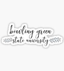 Bowling Green State University   Style Q1 Sticker