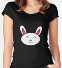 Rabbit Face Women's Fitted Scoop T-Shirt