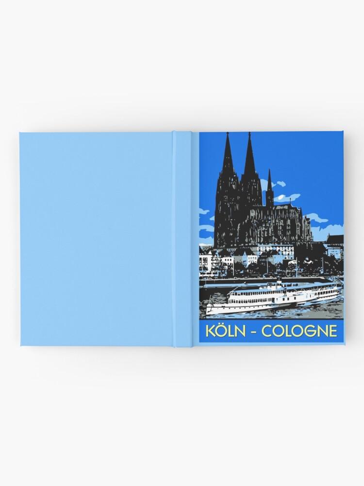 Alternative Ansicht von Koeln Köln Retro-Vintage-Stil Reiseanzeige Notizbuch