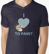 I love to paint, Artist T shirt Men's V-Neck T-Shirt