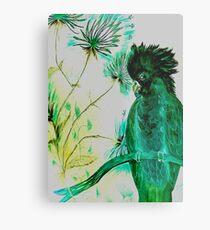 black green parrot cockatoo Metal Print