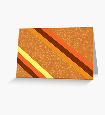 Amber Sparkle Greeting Card