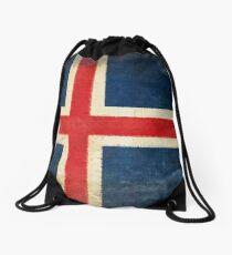 Iceland flag  Drawstring Bag