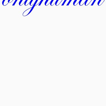 onlyhumanscript_blue by onlyhuman