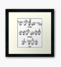 Slime Language Framed Print