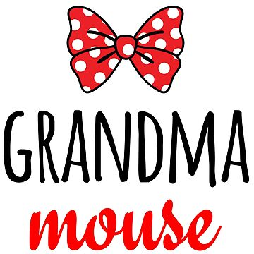 Grandma Mouse Polka Dot Bow by CarbonClothing