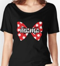 Mama Polka Dot Bow Cute Women's Relaxed Fit T-Shirt